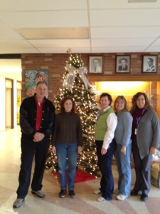 A big thanks to the parent volunteers who supervised our students during our staff holiday luncheon.
